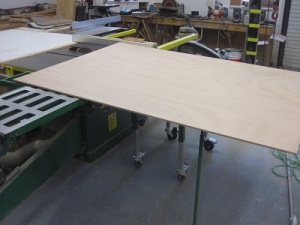 plywood ready to be cut up for bulkheads