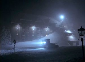 Fictional Overlook Hotel from the Stephen King classic 'The Shining'.