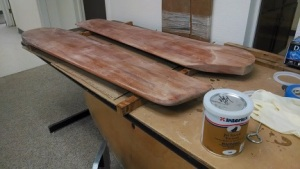 Rudders have been sanded with 220 grit paper.