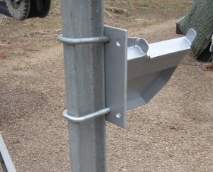 U-bolts hold the mount securely to the trailer.
