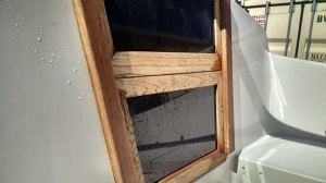 Companionway after cleaning with TSP.