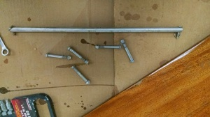 The rudder hardware removed you are now ready to varnish!