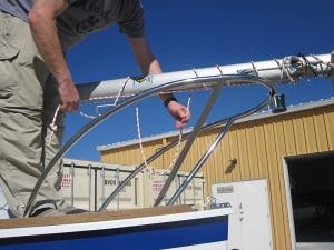 loop halyard around mast 2