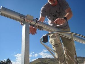 loop halyard around mast