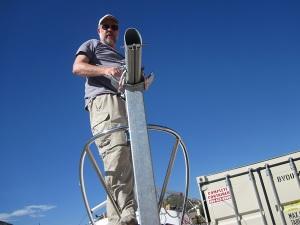 mast to trailer mast crutch