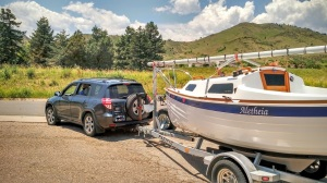 Sage 17 owner departs for home after collecting boat from the shop.