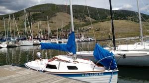 AIR BORN in her Lake Dillon Marina slip.