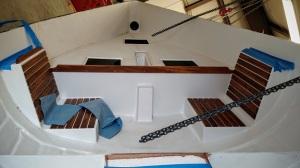 Interior teak installed.