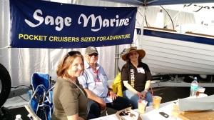 Gail & Sal visit with JudyB (Hyde sails).