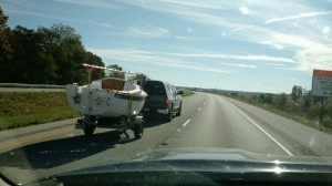 Sage 15 SageCat moving through Illinois on Interstate 64.