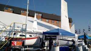 The boats all set up at the show - land sites 80 & 81.