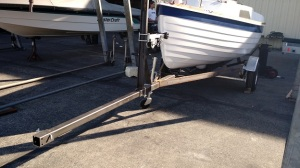 Tongue extension adds more than four feet to the trailer making launching and retrieval easy even on shallow ramps.