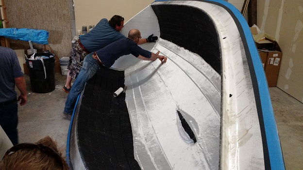 laying up the hull