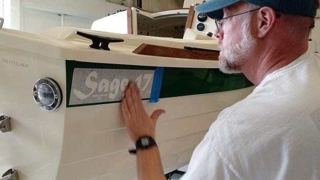 On goes the S17 hullside logo!