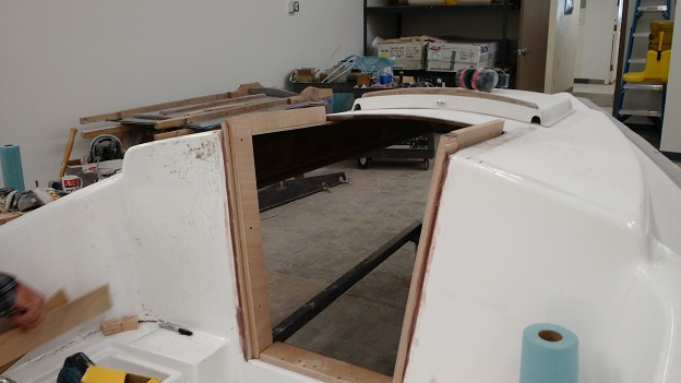 S15 companionway initial modifications
