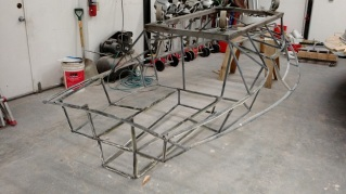 The metal framwork is now ready to be put over the new deck mold.