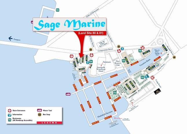 Sage Marine Annapolis Show location