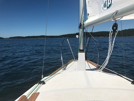 sailing near Jones Island